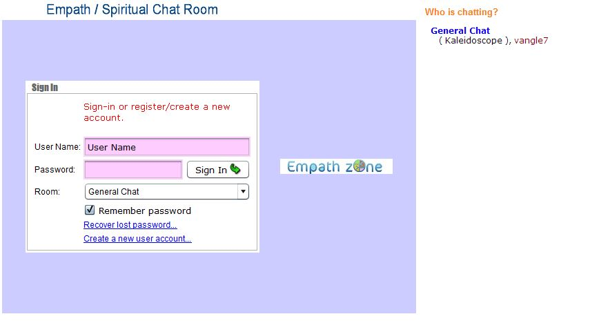 Chat room for people with depression